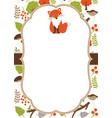 Woodland Card vector image