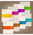 Colorful bookmarks and arrows for text vector image vector image