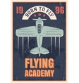 Flying Academy Retro Style Poster vector image