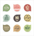 Modern badges collection vector image