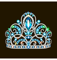 beautiful crown tiara tiara with gems vector image vector image