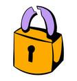 padlock icon icon cartoon vector image