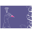 Peacock on blue background vector image