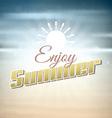 Enjoy summer background vector image