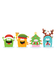 Monsters With Christmas Costume vector image vector image