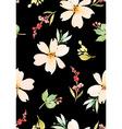 Watercolor flower pattern vector image