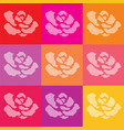 dotted roses vector image