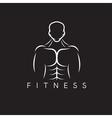 Bodybuilder Fitness Model vector image
