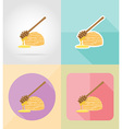 ice cream flat icons 07 vector image vector image
