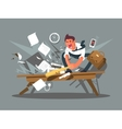 Angry and exasperated employee vector image