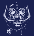 blue and gray skull vector image