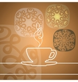 Cup with abstract design elements vector image