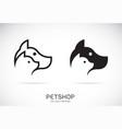 dog and cat design on white background petshop vector image