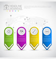 headline infographic design business data graphic vector image