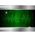 Oscilloscope background vector image