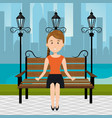 person on the park vector image