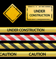 Set of signal tape and warning signs vector image