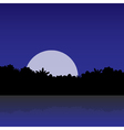 white moon in the jungle vector image
