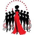 Women group graphic silhouettes Different person vector image
