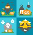 Flat design Halloween decor set vector image