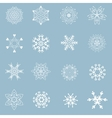 Set of beautiful different snowflakes vector image vector image
