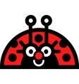 Lady bug sticker vector image vector image