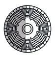 mandala art isolated icon vector image