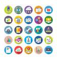 Seo and digital marketing icons 2 vector image