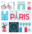 Paris Card - Places and Museum in Paris vector image