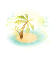 summer island wth palm trees vector image