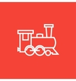 Train line icon vector image