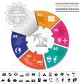 Colorful Infographics Diagram Summer Design vector image