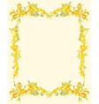 Decorative ornamental page vintage vector image