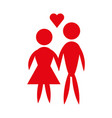 man and woman pictogram icon couple design vector image