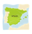 Territory of Spain icon in cartoon style isolated vector image