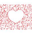 vine heart vector image