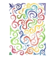 Watercolor waves background for your design vector image