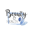 Health And Beauty Promo Sign vector image vector image