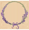Lavender wreath with a bow vector image