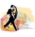 Abstract of Latino Dancing couple vector image vector image