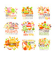 happy kid holiday colorful graphic design template vector image