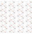 rabbit easter background decoration design vector image
