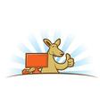 Computing Kangaroo vector image