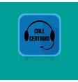 Flat Design Button Call Centrum vector image