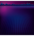 abstract dark background with silhouette of city vector image