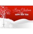 Red Christmas Greeting vector image