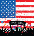crowd cheer America vector image vector image