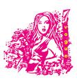 Creative fashion portrait vector image