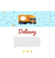 delivery cargo truck and hand vector image