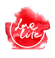 love life red vector image